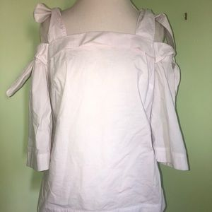 BANANA REPUBLIC ALL WHITE OFF THE SHOULDERS TOP